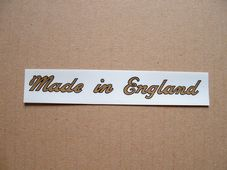 "Transfer decal  ""Made in England"""